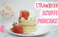 Strawberry Souffle Pancakes | 日式梳乎厘鬆餅