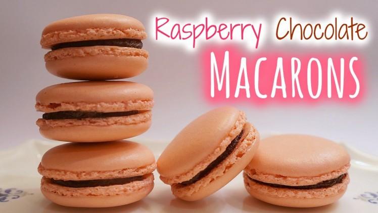 Raspberry Chocolate Macarons│紅莓朱古力馬卡龍